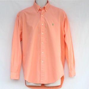 Ralph Lauren Blake Dress Shirt Sherbet Medium